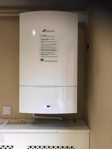 Gas fired Worcester Bosch installation